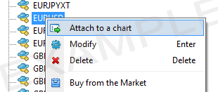 Attach expert advisor to metatrader chart